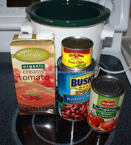 Easy Creamy Tomato Bean Soup - Ingredients