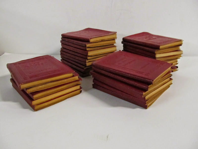 30 Miniture Red Leather Books 