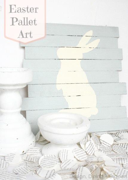Semplicemente Perfetto DIY Easter-Pallet-Art 01 pasqua coniglio tavole dipinte