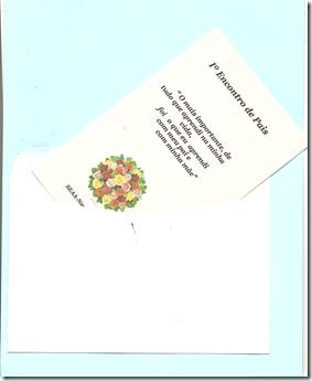 convite com envelope azul