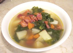 kale soup bowl