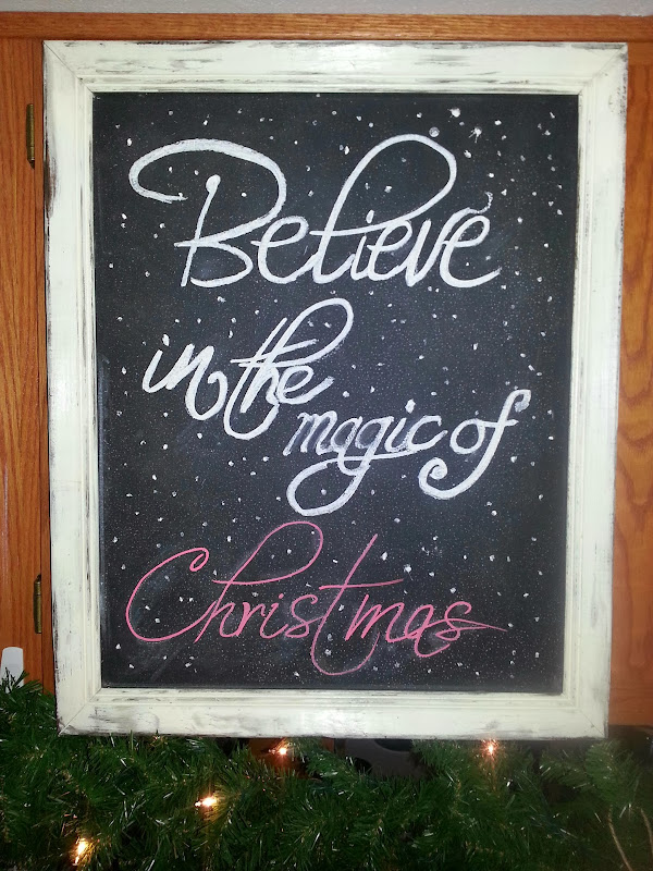 Christmas Chalk Art title=