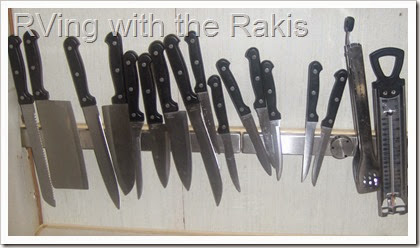 Creative storage solutions for the kitchen - from RVing with the Rakis.