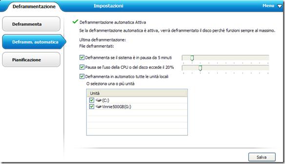 Disk SpeedUp Deframmentazione automatica