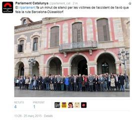 minuta de silenci catastròfa de germanwings Parlament Catalonha
