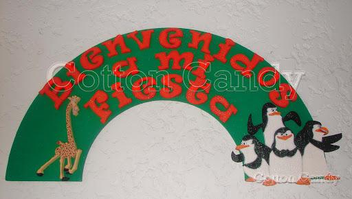madagascar jpg arco bienvenidos a mi fiesta madagascar decoraciones
