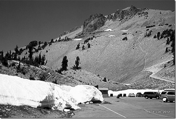 Summit Trail Parking Lot, Lassen Volcanic National Park, California.  July 2004.
