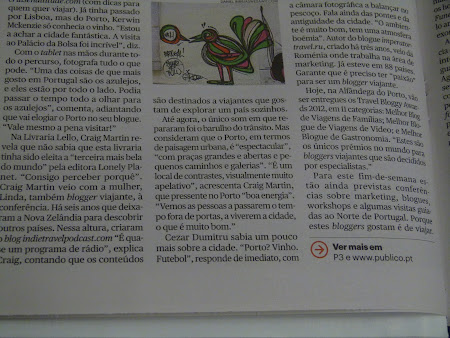 Article in Portuguese newspaper Publico