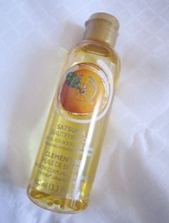 the body shop satsuma beautifying oil, bitsandtreats