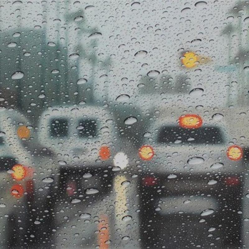 Hyperrealistic Drawings of Rain on Windshield by Elizabeth Patterson