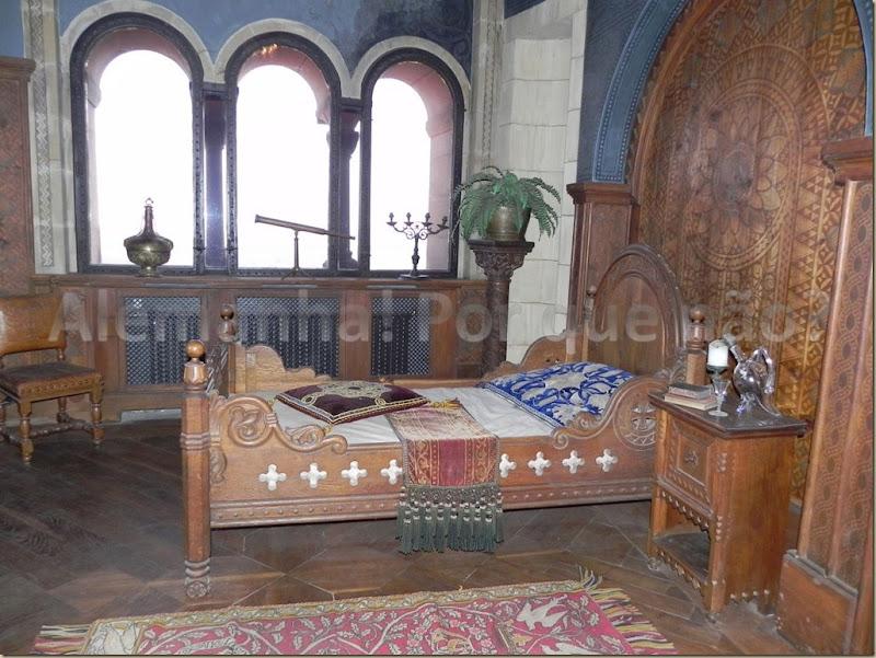 Um dos quartos do castelo