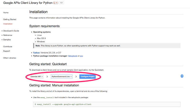 Installation  Google APIs Client Library for Python  Google Developers