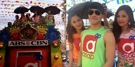Kim Chiu, Enchong Dee and Maja Salvador during Sinulog Float Parade in Cebu