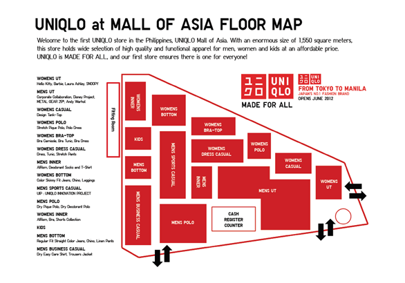 uniqlo philippines floor map