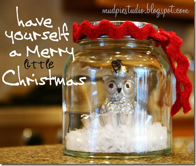 Merry Christmas Owl Cloche  from mudpiestudio.blogspot.com
