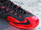 nike lebron 11 gr black red 8 04 New Photos // Nike LeBron XI Miami Heat (616175 001)
