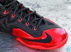 nike lebron 11 gr black red 8 04 New Photos // Nike LeBron XI Miami Heat (616175 001)