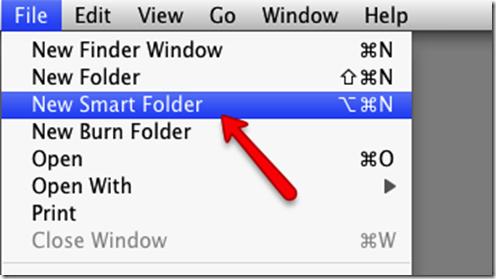 creating custom smart folder