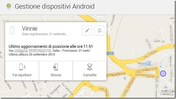Gestione dispositivi Android sito internet