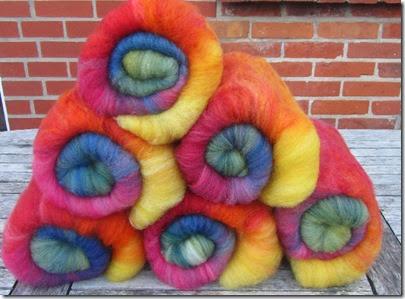 Pflanzengefärbte Regenbogenvliese