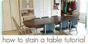 how to stain a table tutorial