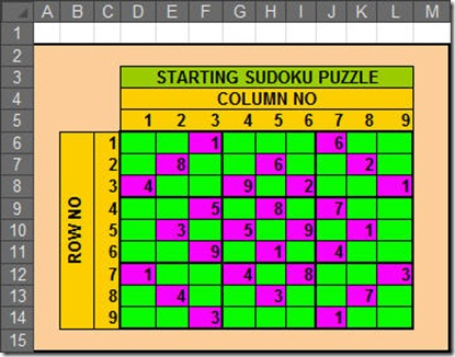 Solve Sudoku with Excel8