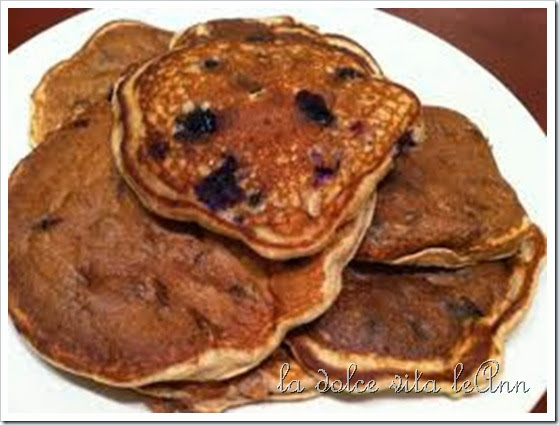 Whole wheat blubeberry pancakes