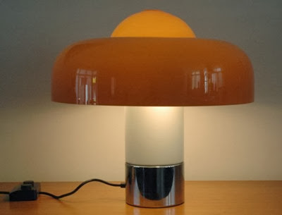 Guzzini Brumbry lamp orange oblique