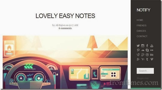 Notify-Blogger-Template