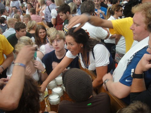 the madness that is oktoberfest, silvia here was awesome and makes about 20k euro in 2 weeks