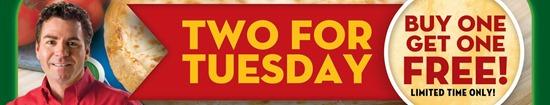EDnything_Papa John Two for Tuesday