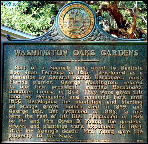 04a - Washington Oaks Garden - Historic Sign