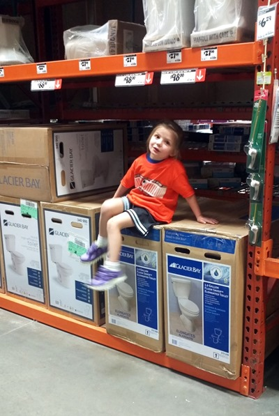 Shopping at The Home Depot