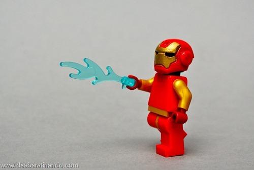 homem de ferro super herois de lego desbaratinando