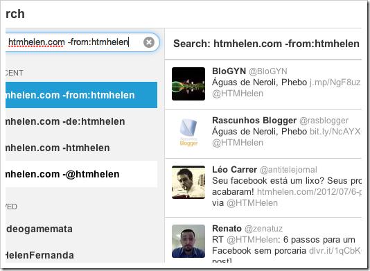 Busca de tuites com link