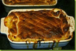 Ham leek and cider pie