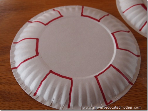 Candy Cane Christmas Peppermints & My Very Educated Mother: Christmas Décor: Peppermint Paper Plates