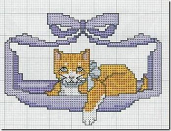 gatos-esquemas-ponto-cruz-motivos-cats-cross stitch-104