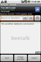 Screenshot of WebSMS: Beetalk Connector
