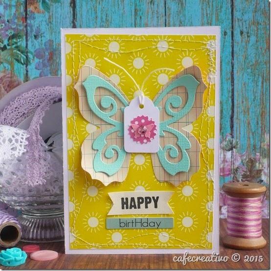 Butterfly Card - Big shot Sizzix - Biglietto Farfalla - Cucire carta - tutorial
