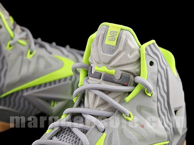 nike lebron 11 grey volt 3m 1 06 Nike LeBron 11 in Volt and Grey with Gum, Stripes and 3M