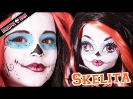 Kitties Mama Make Up Tutorial Monster High Skelita