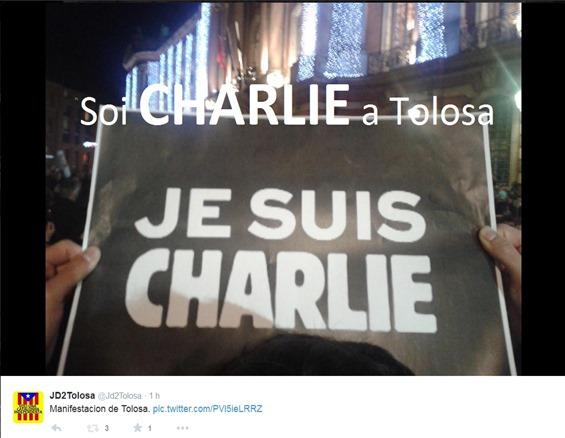 manifestacion de Tolosa