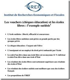 Les vouchers (chèques éducation)