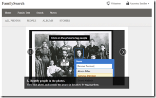 FamilySearch Photo Feature