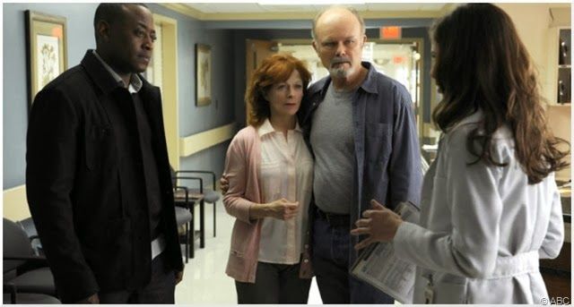 (L-R) Omar Epps, Frances Fisher, Kurtwood Smith and Devin Kelley star in RESURRECTION.
