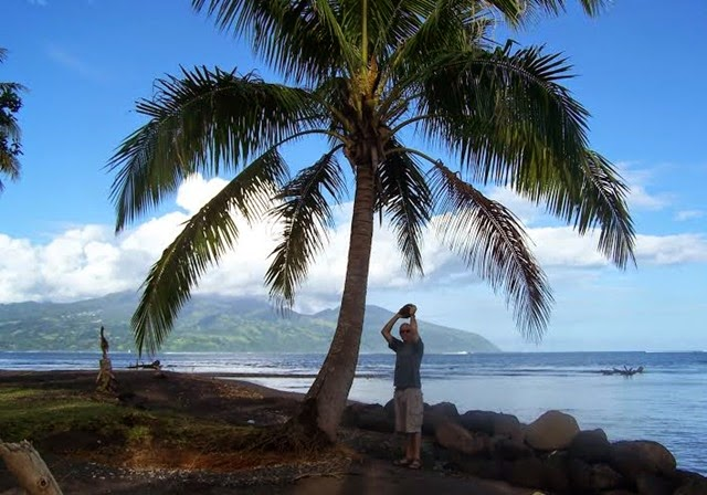 Scott in Tahiti