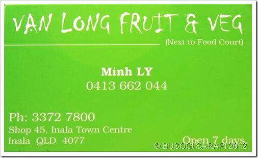 VAN LONG FRUIT & VEG INFO, INALA© BUSOG! SARAP! 2012