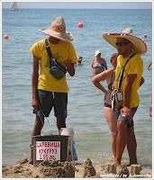 Сервис на пляже. Болгария. Фото А.Сосновский. www.timeteka.ru