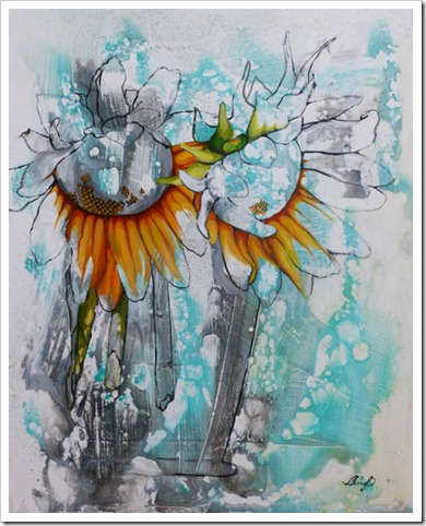 artist cherylo painting joy
